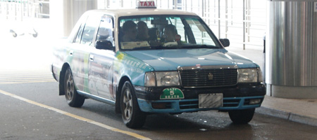 blue hong kong taxi