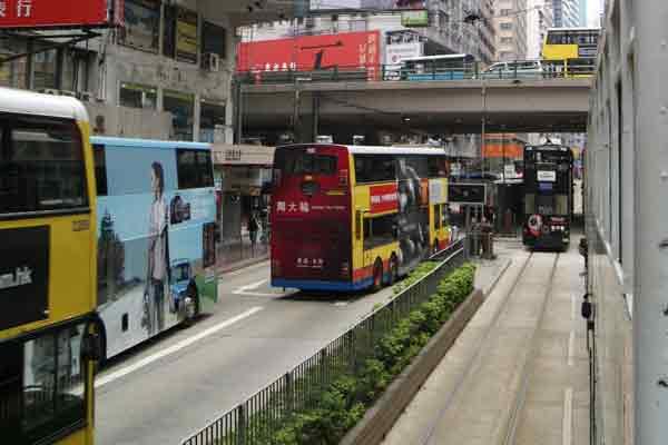 hong kong bus and tram